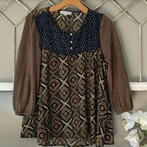 THML mixed material top XS